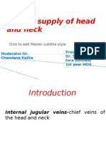 Venous Supply of Head and Neck by Saindhya