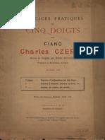 [Free com Czerny Charles Exercices Pratiques Des Cinq Doigts Pour Piano Cahier 1 31528