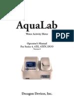 AquaLab 4 Water Activity Meter Manual