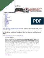 0001_Lập kế hoạch bảo dưỡng cho một Nhà máy sản xuất ngói lợp tự động