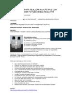 Realizacion Del Pcb Con Emulsion Fotosensible Negativa