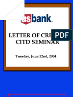 Export Import Financing Loc Letter of Credit Christopher Ames Usbank