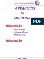 Hr Practices at Mobilink