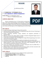 Avijit Shaw M Tech Dairy Engineer Resume 2012
