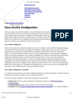 Cisco Switch Configuration