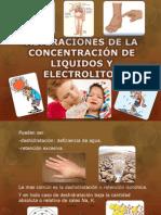 ALTERACIONES DE LA CONCENTRACIÓN DE LIQUIDOS Y ELECTROLITOS