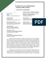 NewsletterAALSSectiononLaw Religion 08 PDF