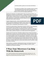 5 maneras de su microondas pueden ayudar con las tareas domésticas