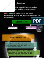 5. Discourse( Speech Act)