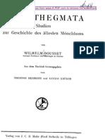 Bousset - Apophthegmata