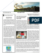 RCBKS Bulletin Vol 20 No - 34