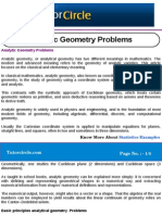 Analytic Geometry Problems