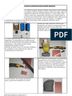 construcción del circuito impreso