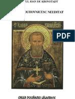 (Sf. Ioan de Kronstadt Jurnal Duhovnicesc Needitat