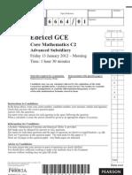 Getrevising.co.Uk Files Documents Edexcel c2 January 2012 Question Paper 6664 01 Que 20120307