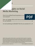 Expert Insights on Social Marketing
