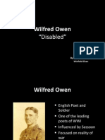 Wilfred Owen's Dsiabled