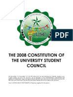 2008 Constitution of the University Student Council