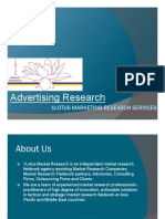 Advertising Research Brief - 1Lotus Research Credentials