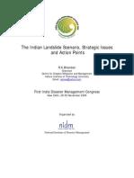 Landslides Strategic Issues