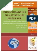 Estructura de las Aulas Virtuales según PACIE
