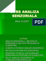 CURS Analiza Senzoriala