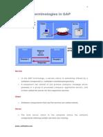 SAP Termiologies