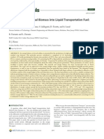 2011 - Conversion of Residual Biomass Into Liquid Transportation Fuel - An Energy Analysis