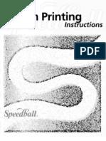 Speedball Screen Printing Instructions