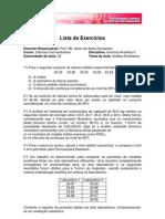 Exercícios -Estatística