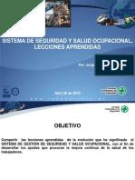 CLASE 1gestion de Seguridad y Salud Ocupacional Dr Jorge Restrepo