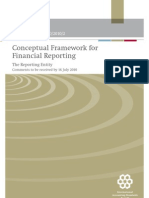 Conceptual Framework of financial reporting
