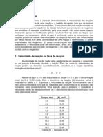 Prática 7e 8 - Cinética química
