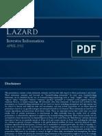 1Q12 Investor Information