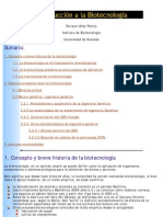 Introducción a la Biotecnología e Ingeniería Genética