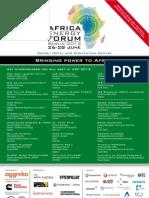AEF2012 Programme