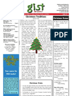 Gist Weekly Issue 5 - Christmas Traditions