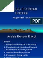 Analisis Ekonomi Energi (Kuliah )