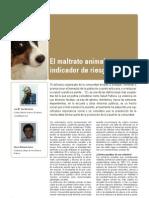 El Maltrato Animal Como Indicador de Riesgo Social
