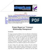 Customer Relation Management Project