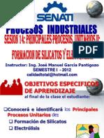 SESION Nº 14 PROCESOS UNITARIOS II - FORMACION DE SILICATOS & HIDROLISIS