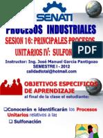 SESION Nº 15 PROCESOS UNITARIOS III - SULFONACION (FABRICACION DE JABONES Y DETERGENTES)