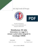 Tesi - Modellazione 3D della interazione tra raggi X e sensori a pixel attivi integrati in tecnologia CMOS