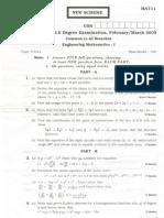 Engg Mathematics-1 March 2005