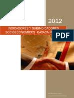 Indicadores y Subindicadores Socioeconomicos OaxacaMexico