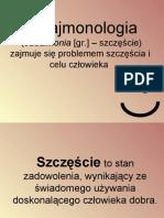 3. Eudajmonologia - wykład