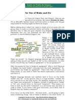The Use of Make and Do