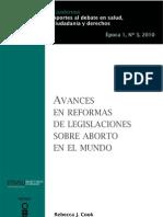 Avances en Reformas de Legislaciones Sobre Aborto en El Mundo