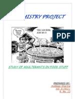 STUDY OF ADULTERANTS IN FOOD STUFF