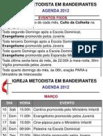 Agenda Metodista Bandeirantes 2012